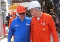 با حضور معاون تولید NIOC فرآیندهای عملیاتی نفت فلات قاره و پایانههای نفتی در منطقه خارگ بررسی شد